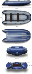 Надувная лодка Флагман DK 350 (Материал дно 1050/баллоны 850 гр/кв.м)