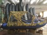 Тент транcформер комби для лодки Ривьера 3200 СК