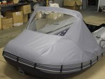 Носовой тент для лодки ПВХ Solar Солар 380 (Оптима,Максима,Jet Tunnel)