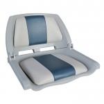 Мягкое (кресло) сиденье для лодки Newstarmarine Molded Fold-Down Boat Seat, Серо-голубое (75109GB)
