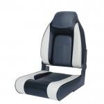 Мягкое (кресло) сиденье для лодки Newstarmarine Premium Designer High Back Seat, Серо-чёрное (75157GCB)