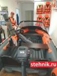Лодка ПВХ Риф Тритон Скат 400 НДНД (деревянный транец)