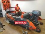 Лодка ПВХ Риф Reef Тритон 370Fi Skat НДНД (Деревянный транец+Интегрированный фальшборт)