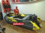 Лодка ПВХ Риф Тритон Скат 370Fi НДНД пластиковый транец + Лодочный мотор Yamaha 9.9 GMHS 15 л.с.+винт 11 шаг оригинал