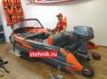 Лодка ПВХ Риф Тритон Скат 370Fi НДНД деревянный транец + Лодочный мотор Микатсу Mikatsu M9.9FHS Enduro 20 л.с.