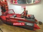 Лодка ПВХ Риф Тритон Скат 370F НДНД (деревянный транец+фальшборта)