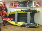 Лодка ПВХ Риф Тритон Скат 390Fi НДНД (Интегрированный фальшборт,деревянный транец)