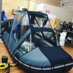 Тент трансформер КОМБИ для лодки Hunter Хантер 420