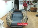 Лодка ПВХ Риф Тритон Скат 390Fi НДНД Интегрированный фальшборт,деревянный транец КАМУФЛЯЖ