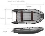Лодка ПВХ Риф Тритон Скат 390 НДНД (деревянный транец)