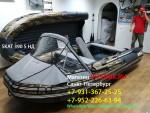 Лодка ПВХ Риф Тритон Скат 390 НДНД (деревянный транец) Камуфляж Лес, Пиксель