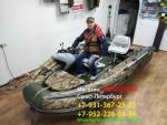 Рулевая консоль мини (пластиковая) для лодок ПВХ Риф Скат 350Fi ,370Fi ,390Fi, 400Fi с интегрированным фальшбортом