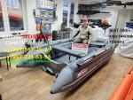 Лодка ПВХ Риф Тритон Скат 390Fi НДНД (Интегрированный фальшборт,Пластиковый транец)